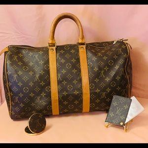 Authentic Louis Vuitton Keepall 45 BUNDLE